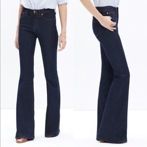 Madewell High Rise Flea Market Flare Denim Jeans